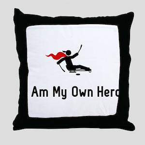Sled Hockey Hero Throw Pillow