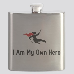 Sled Hockey Hero Flask