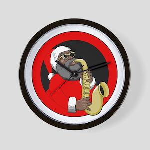 Saxophone Santa Wall Clock