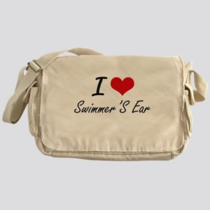 I love Swimmer'S Ear Messenger Bag