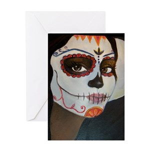 Moon face greeting cards cafepress m4hsunfo