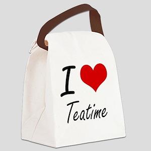 I love Teatime Canvas Lunch Bag