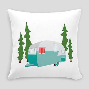 Camper Scene Everyday Pillow