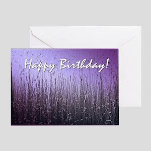 Purple Bubbles Greeting Card