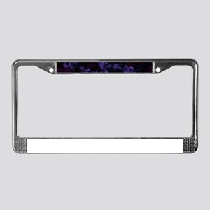 Shattered in Deep Purple License Plate Frame