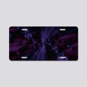 Shattered in Deep Purple Aluminum License Plate
