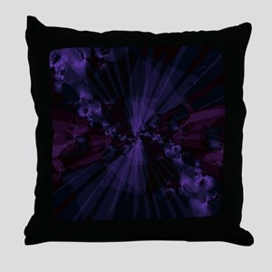 Shattered in Purple Throw Pillow