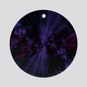 Shattered in Purple Round Ornament