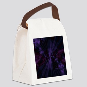 Shattered in Purple Canvas Lunch Bag