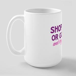 Black Friday shop hard or go home Large Mug