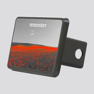 Poppy Field - Remember Rectangular Hitch Cover
