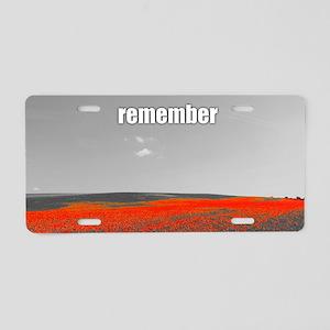 Poppy Field - Remember Aluminum License Plate