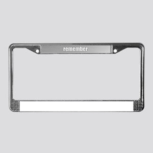 Poppy Field - Remember License Plate Frame