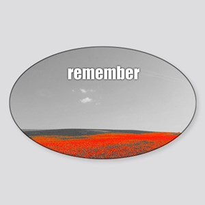 Poppy Field - Remember Sticker