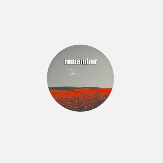 Poppy Field - Remember Mini Button