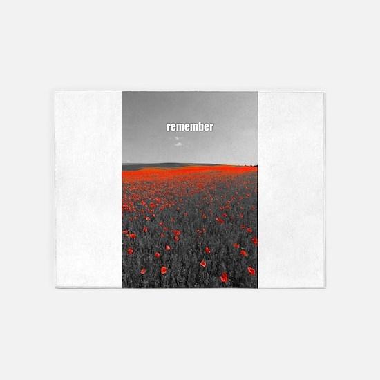 Poppy Field - Remember 5'x7'Area Rug