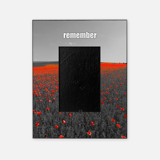 Poppy Field - Remember Picture Frame