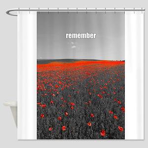 Poppy Field - Remember Shower Curtain