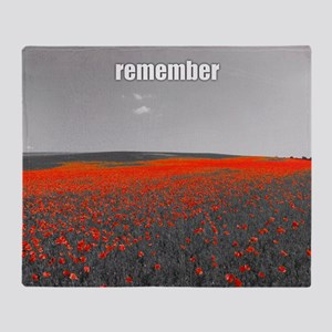 Poppy Field - Remember Throw Blanket