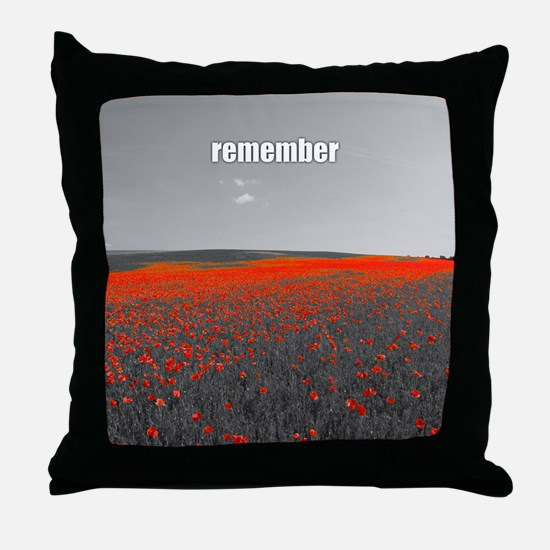 Poppy Field - Remember Throw Pillow