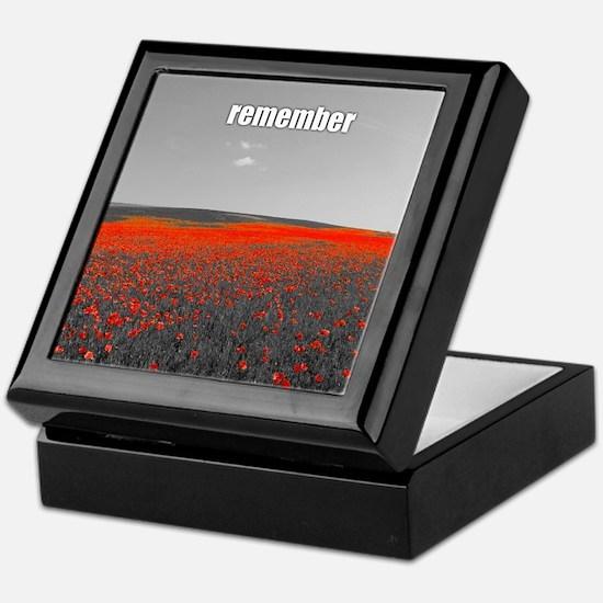 Poppy Field - Remember Keepsake Box