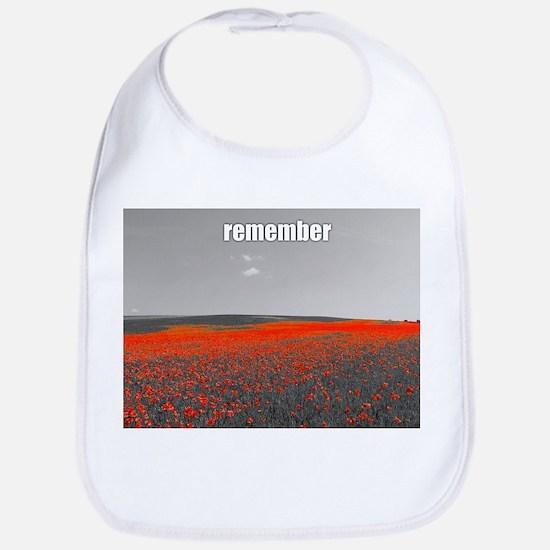 Poppy Field - Remember Bib