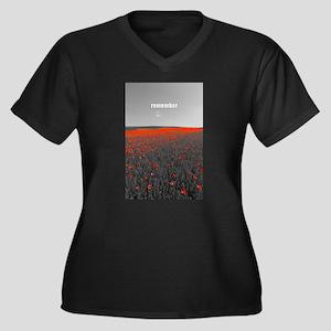 Poppy Field - Remember Plus Size T-Shirt