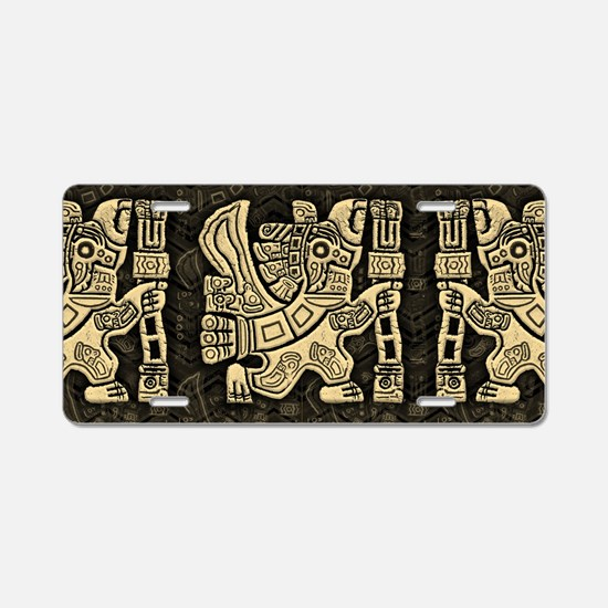Aztec Eagle Warrior Aluminum License Plate