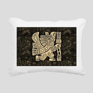 Aztec Eagle Warrior Rectangular Canvas Pillow