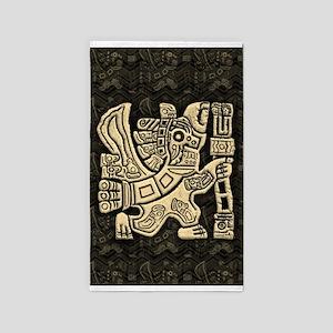 Aztec Eagle Warrior Area Rug