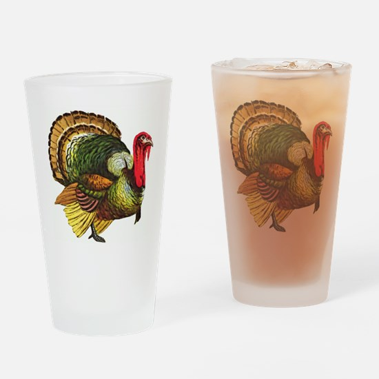 Thanksgiving Wild Turkey Drinking Glass