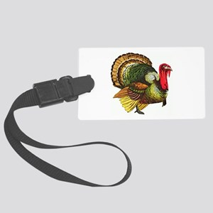 Thanksgiving Wild Turkey Large Luggage Tag
