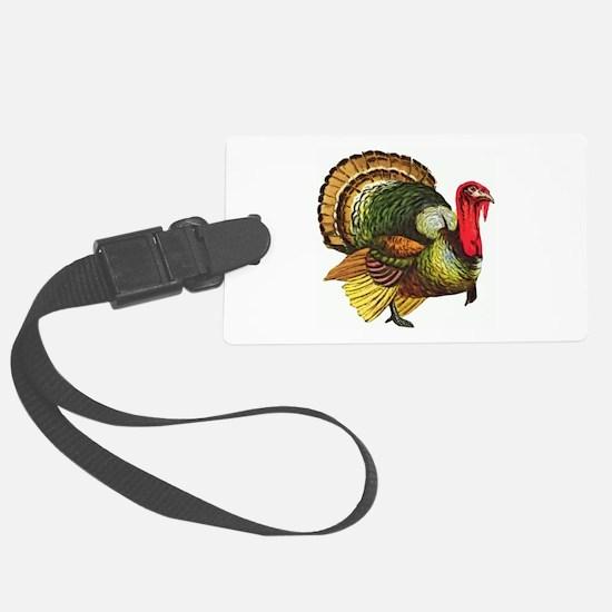 Thanksgiving Wild Turkey Luggage Tag