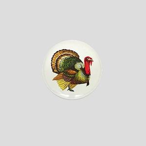 Thanksgiving Wild Turkey Mini Button