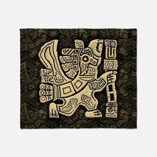 Aztec Eagle Warrior Throw Blanket