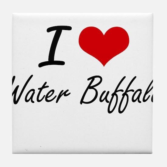 I love Water Buffalo Tile Coaster