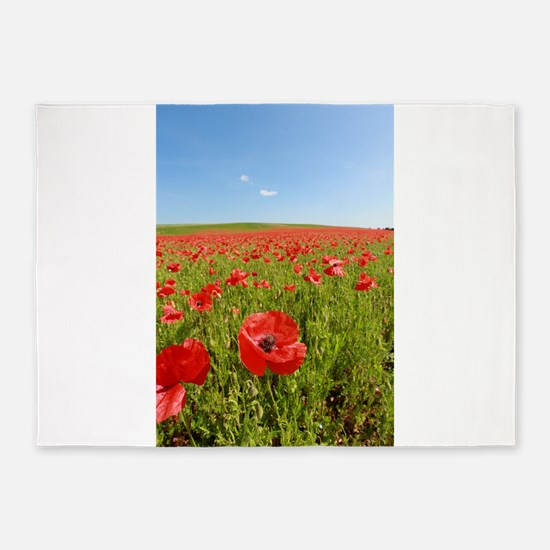 Poppy Field PRO PHOTO 5'x7'Area Rug