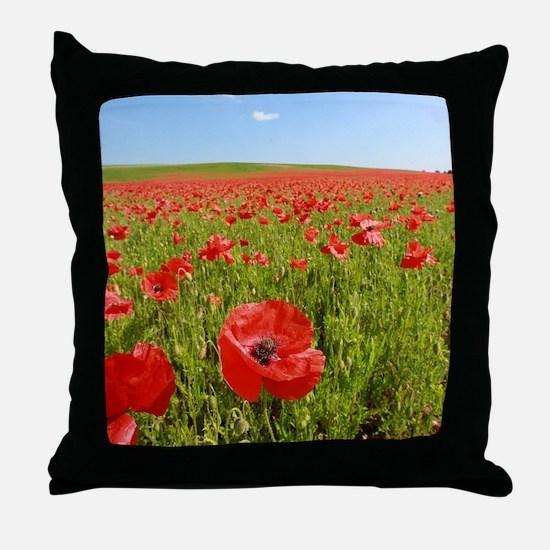 Poppy Field PRO PHOTO Throw Pillow