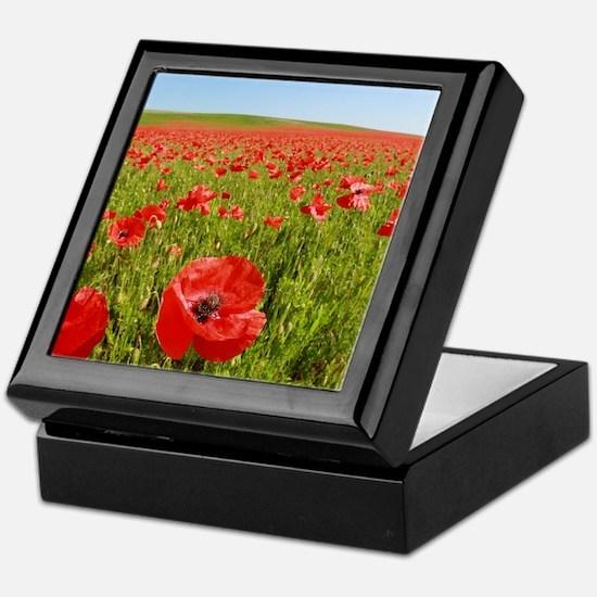 Poppy Field PRO PHOTO Keepsake Box