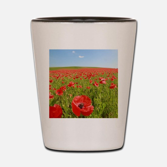 Poppy Field PRO PHOTO Shot Glass