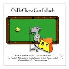 On The Cheese Billiard M Square Car Magnet 3