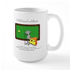 On The Cheese Billiard Mouse Large Mug