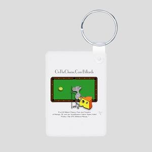 On The Cheese Billiard Mou Aluminum Photo Keychain