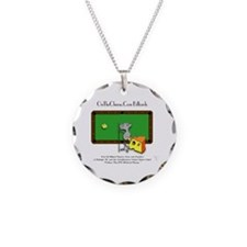 On The Cheese Billiard Mouse Necklace Circle Charm