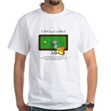 On The Cheese Billiard Mouse White T-Shirt