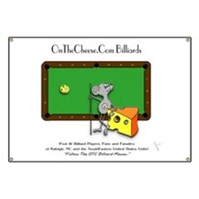 On The Cheese Billiard Mouse Banner