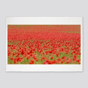 Poppy Field - Pro Photo 5'x7'Area Rug