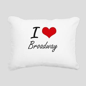 I love Broadway Rectangular Canvas Pillow