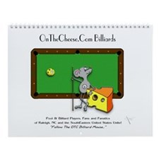 On The Cheese Billiard Mouse Wall Calendar