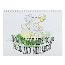 OTC Billiard Mouse Cartoon Wall Calendar